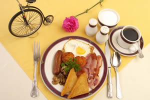 New Forest breakfast at the Penny Farthing Hotel, Lyndhurst